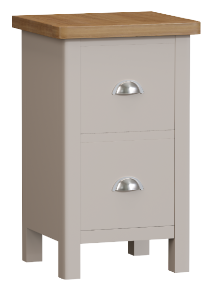 Richmond Painted Oak Small Bedside Cabinet